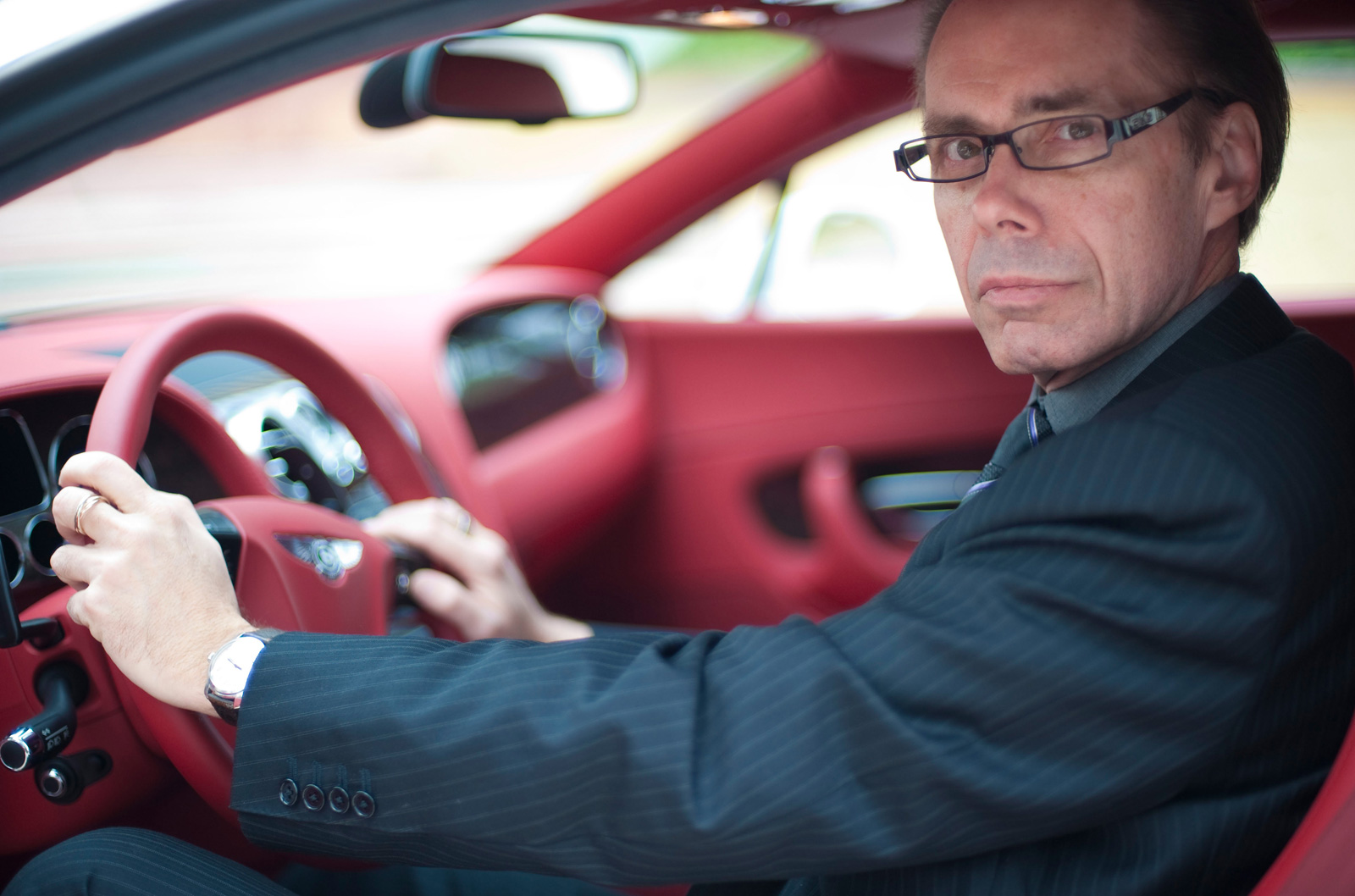 Jeffery Deaver with Bentley Continental GT in Dubai