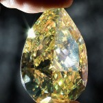 The World's Largest Yellow Pear-Shaped Diamond – Priceless 110 Carat Cora Sun-Drop