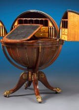 M.S. Rau Antiques Offers 1810 English Globe Writing Desk