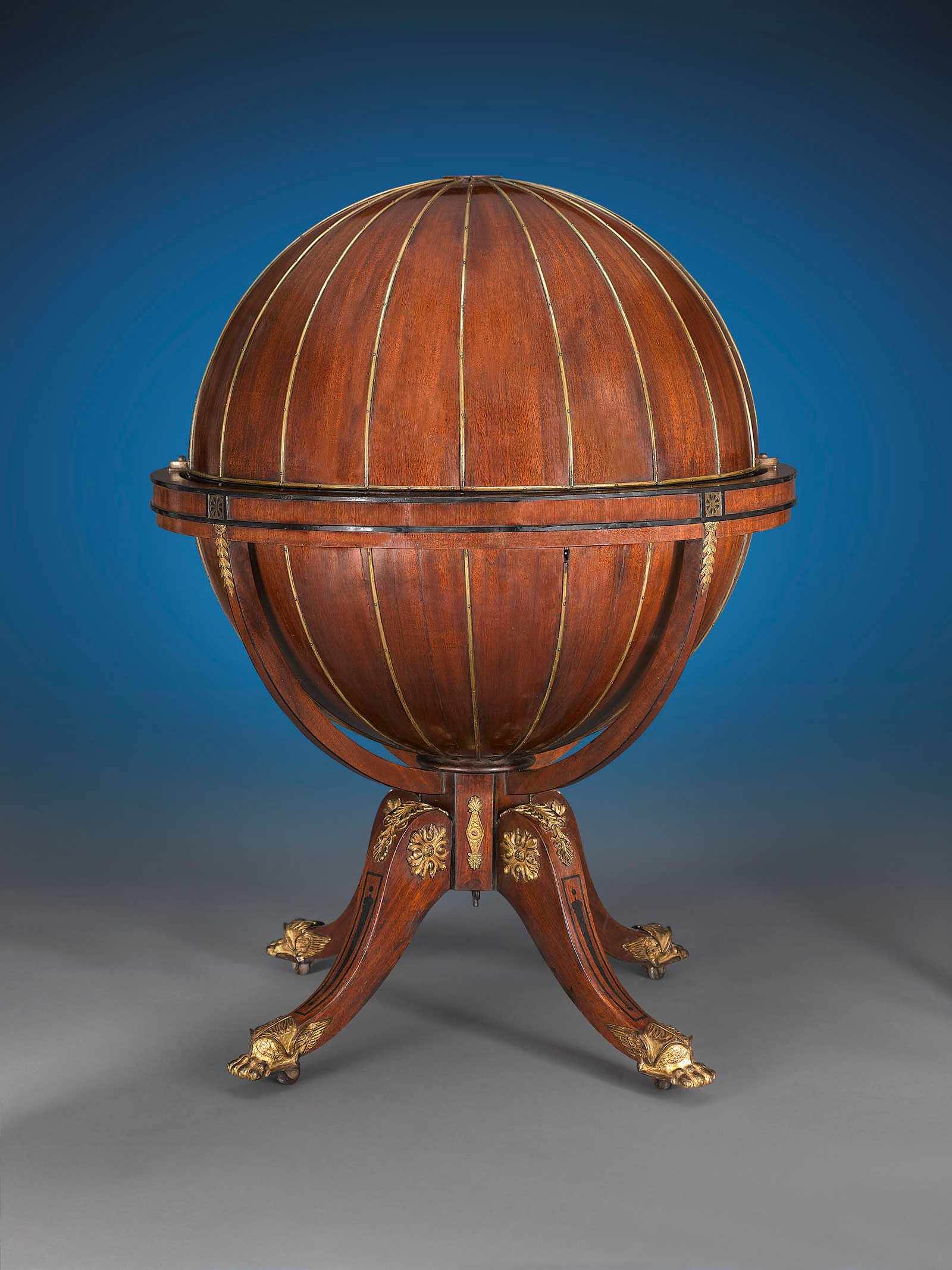 M S Rau Antiques Offers 1810 English Globe Writing Desk