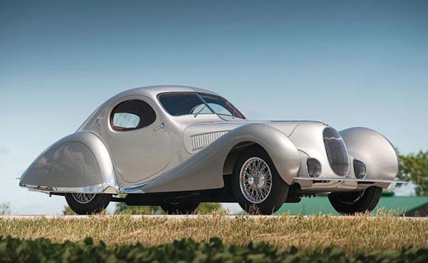1938 Talbot Lago T150C-SS Teardrop Coupe by Figoni et Falaschi