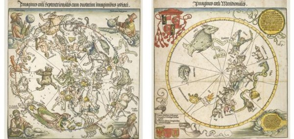 Albrecht-Dürer's-maps-of-the-Northern-and-Southern-skies