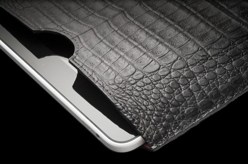 Alexander Amosu Matt Black Crocodile IPad 2 case