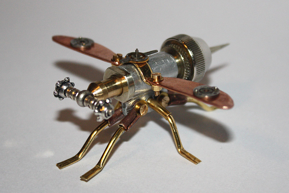 Arthrobots Steampunk Insects Sculptures By Tom Hardwidge