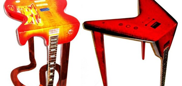Bent Guitar Tables Designed By Phil Daniels