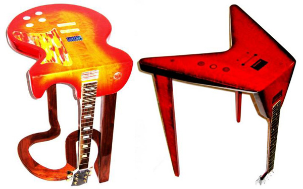 Bent Guitar Tables by Phil Daniels