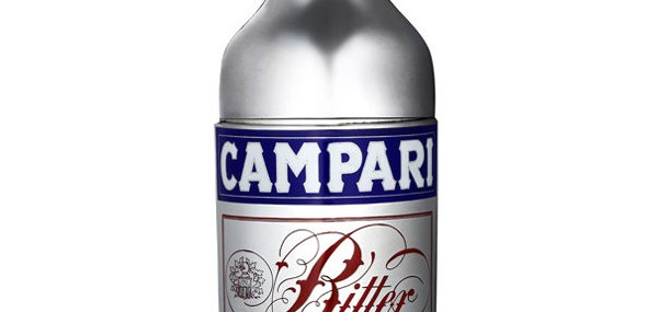 Campari Bottle Stylized Cocktail Shaker