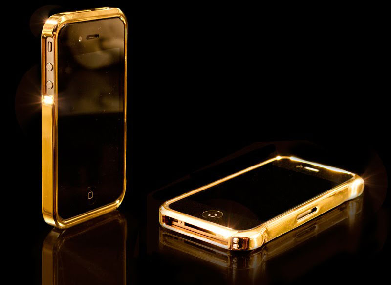 CrystalRoc&#8217;s 24 Carat Gold iPhone 4 Bumpers