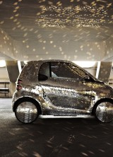 Mirrored Smart Fortwo Electric Drive Ideal For Fancy Disco Girls