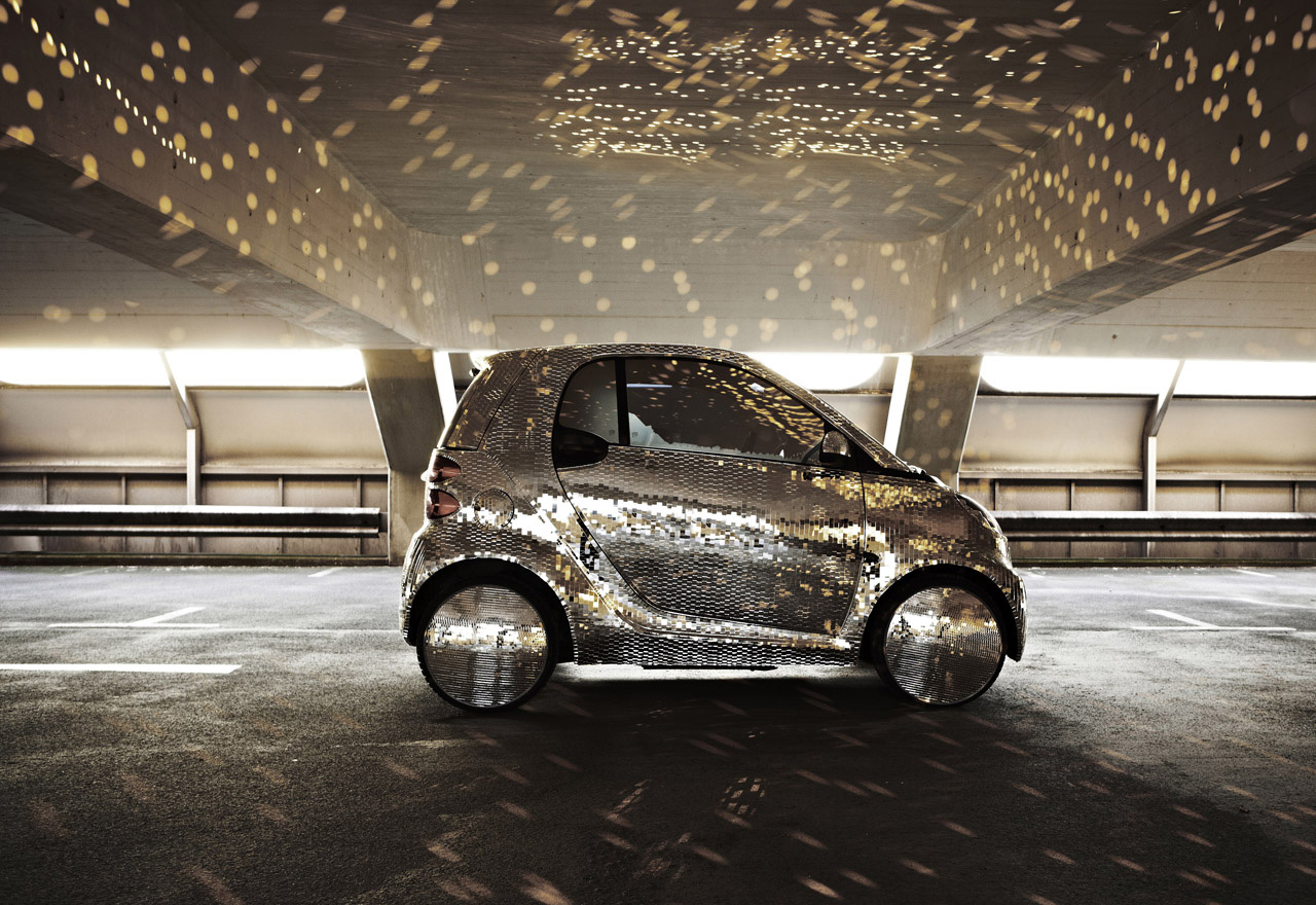 Mirrored Smart Fortwo Electric Drive