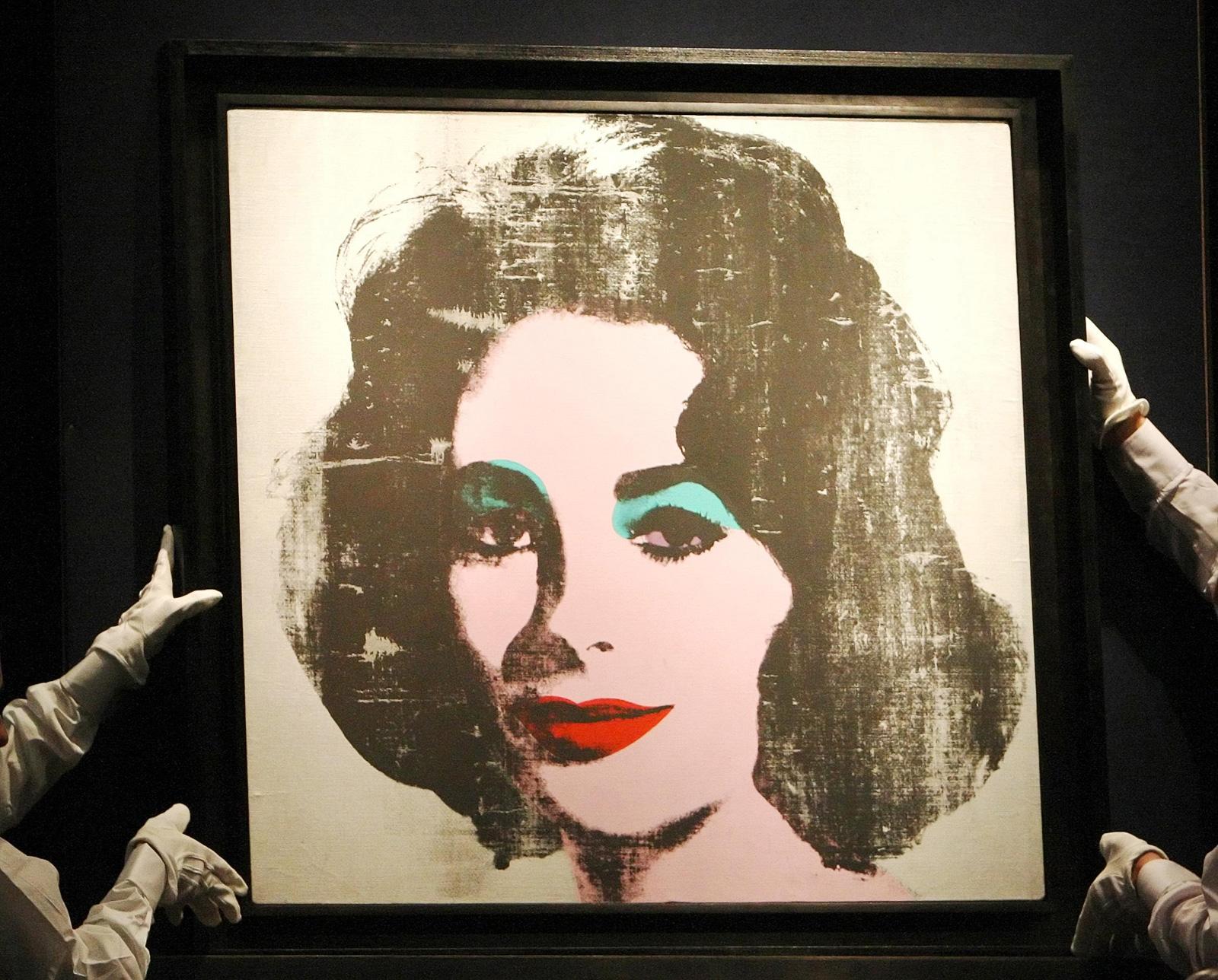 Elizabeth Tailor Portrait by Andy Warhol