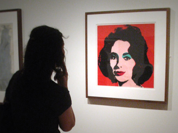 Death Of Elizabeth Tailor Putting Portrait By Andy Warhol Up For