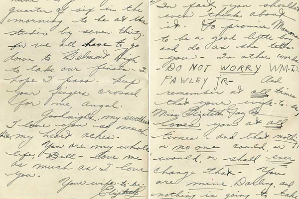 elizabeth taylor love letter to william pawley