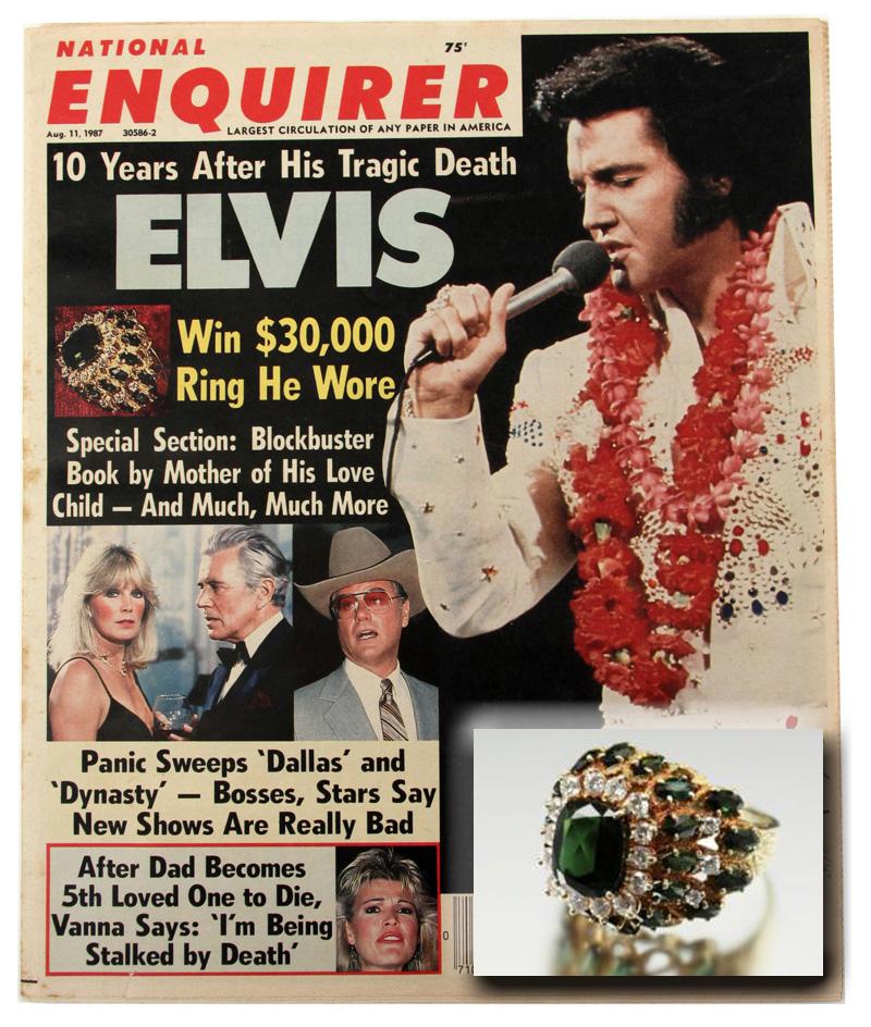 Elvis Presley's 18k Ring