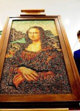 100,000 Carats Mona Lisa Painting Exibited in China