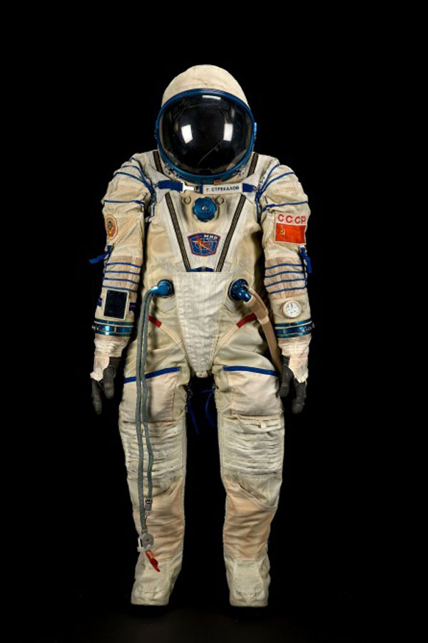Gennadi Strekalev's Sokol KV-2 spacesuit used on Soyuz 10 in 1990