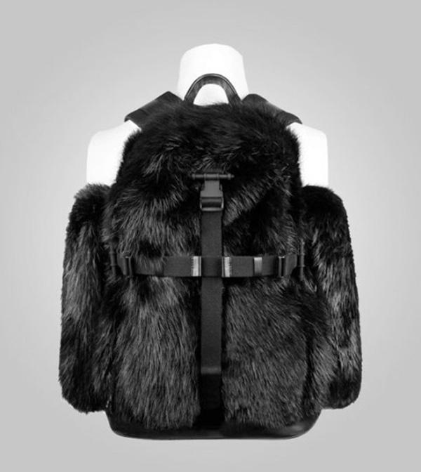 Givenchy Fall/Winter 2011 Fur & Dog Print Backpacks