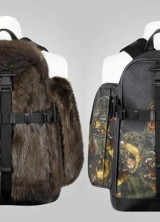 Fur & Dog Print Backpack In Givenchy's Accessories Fall/Winter 2011