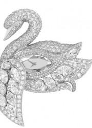 Graff's Diamond Swan Watch Rests on a Diamond Bracelet