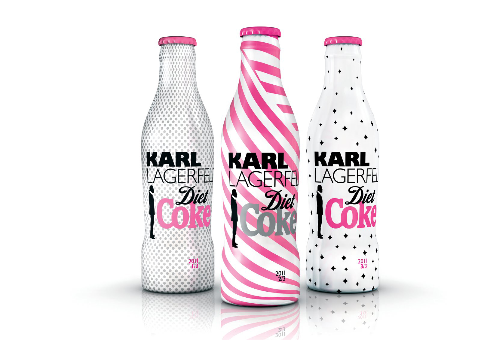 Karl Lagerfeld designs bottles for Diet Coke