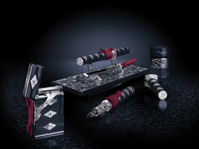 Limited Edition S.T. Dupont Samurai Prestige Lighter And Pen Set