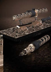 Limited Edition S.T. Dupont Samurai Prestige Lighter And Pen Set