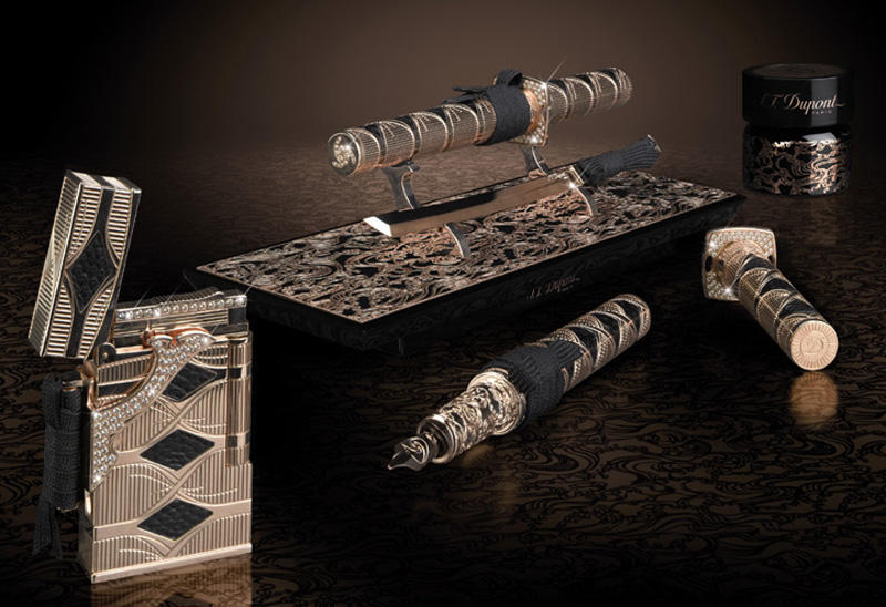 Limited-Edition-S.T.-Dupont-Samurai-Prestige-Lighter-And-Pen-Set-3