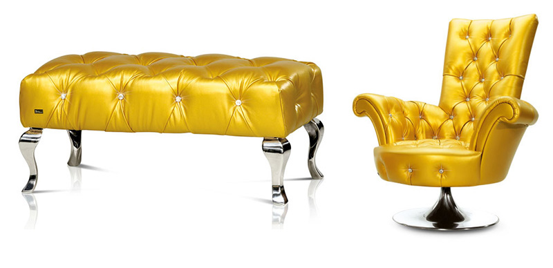 Luxury Furniture With Swarovsky Crystals by Bretz