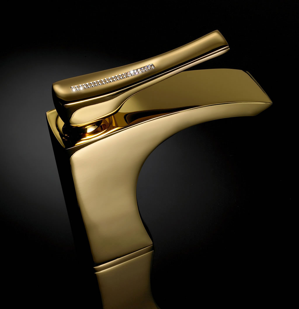 Maier luxury faucets adorned with swarovsky crystals for Expensive faucets