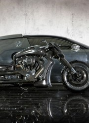 Corvette Stingray on Mansory Zapico Custom Bike     Extravaganzi