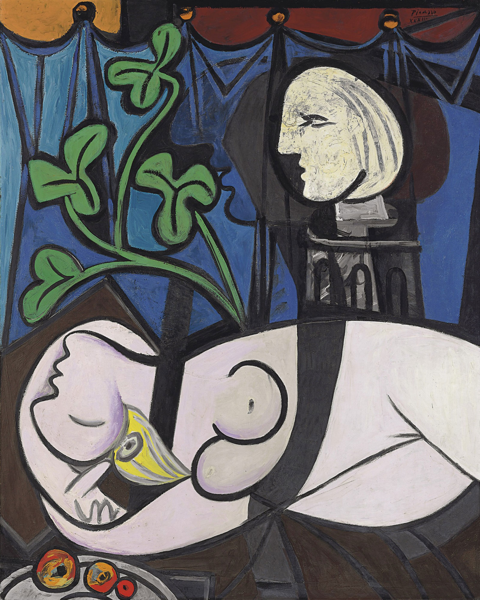 World's Most Expensive Painting - Pablo-Picaso's Nude, Green Leaves and Bust