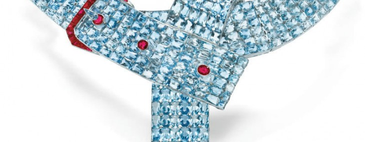 Paul-Flato's-aquamarine-and-ruby-belt-necklace