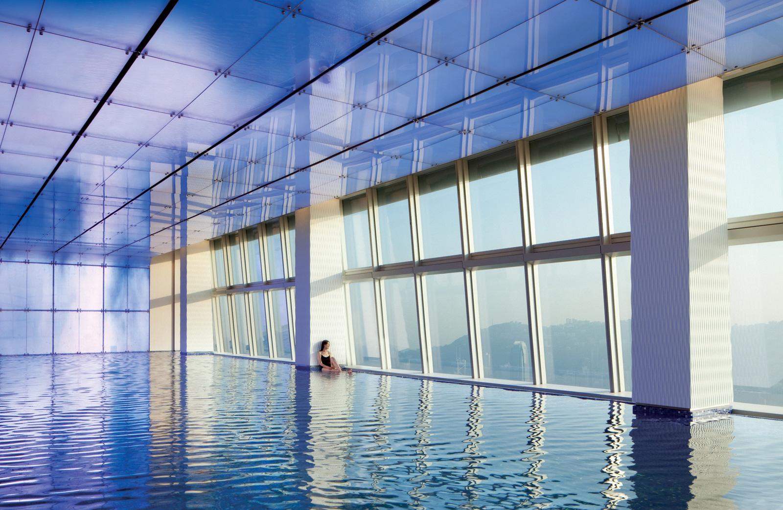 Swimming pool at The Ritz-Carlton, Hong Kong