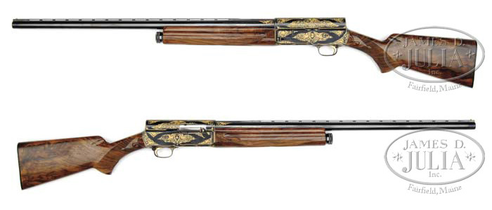 Richard Nixon's Gold-inlaid Browning 12-gauge Automatic Shotgun