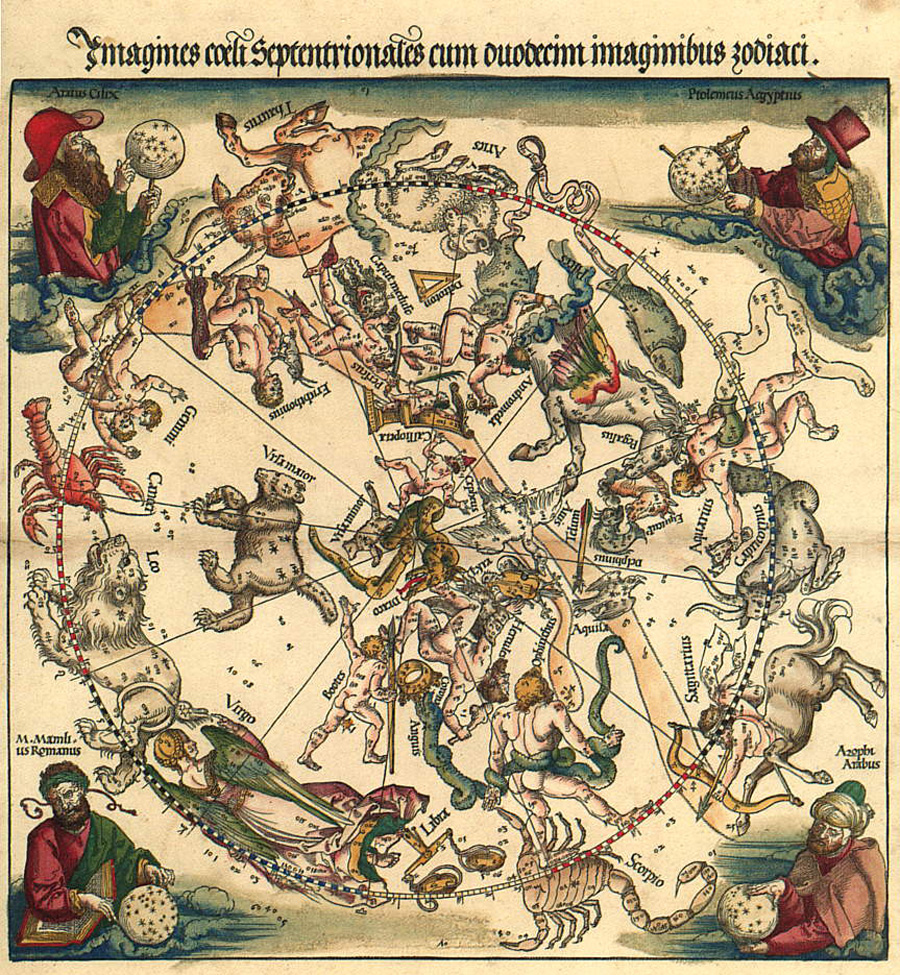 Albrecht Durer's maps of the Northern skies