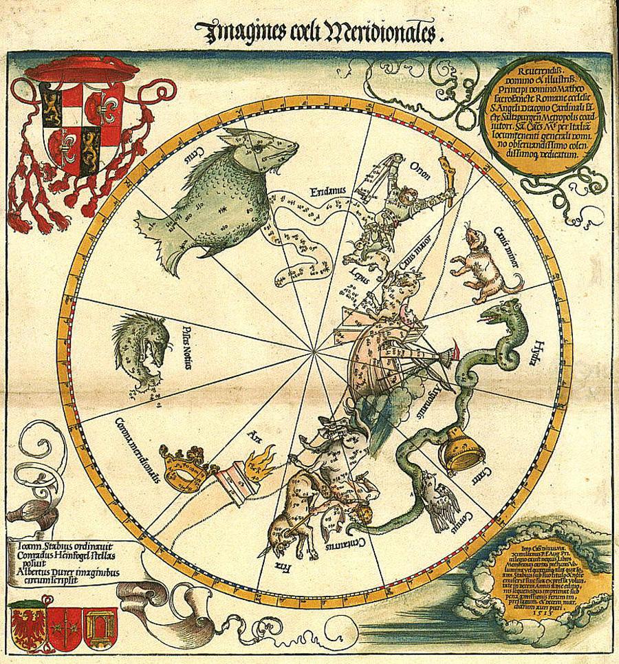 Albrecht Dürer's maps of the Southern skies
