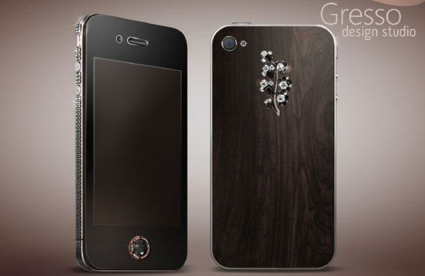 Limited Edition Gresso iPhone 4 Black Diamonds for Lady