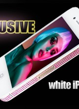 iPhone 4 White Chic Edition Embellished with Platinum and Swarovski Crystal