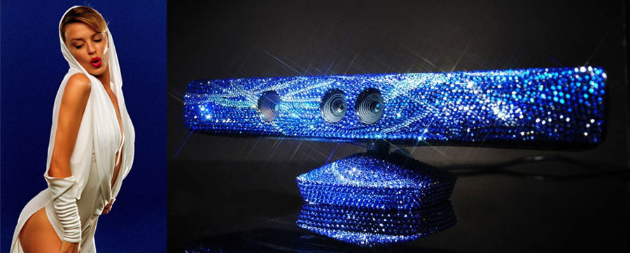 Swarovski Studded Kinect Sensor – Can You Dance Better than Kylie Minogue?