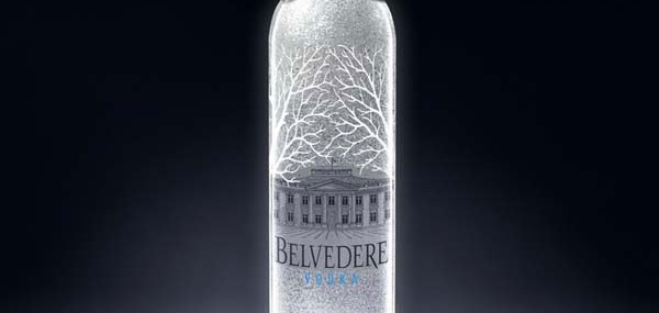 Limited Edition Belvedere Vodka with a Platinum Bowtie for 2011 Festival de Cannes