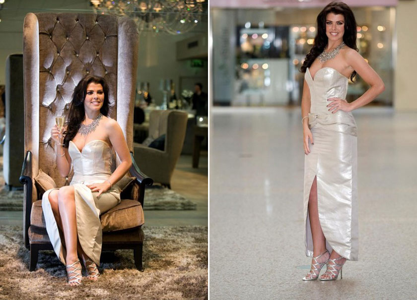 Nieve Jennings Modeled £100,000 Domo Adami's Platinum Dress