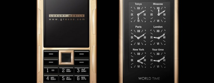 Gresso Luxor World Time Gold Phone