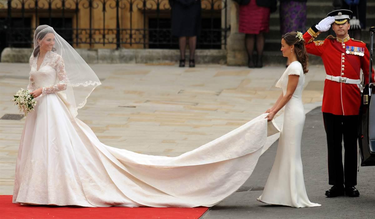 Kate Middleton in Wedding Dress Designed by Sarah Burton