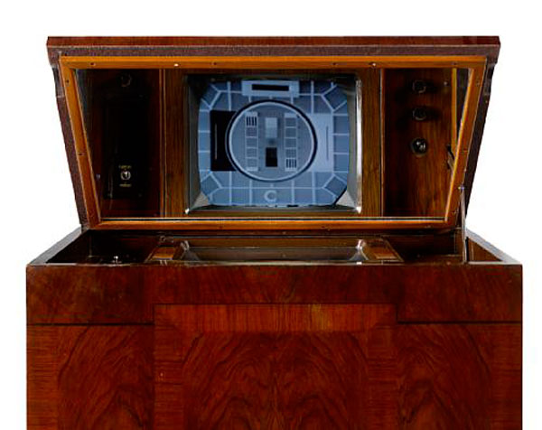 The Marconi type-702 was produced in 1936 and bought three weeks after transmissions began