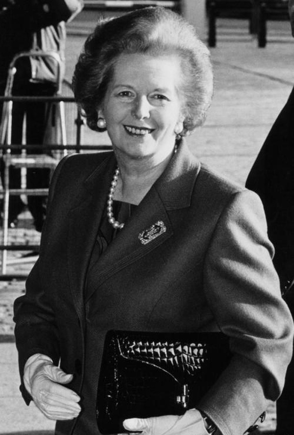 The former PM, Margaret Thatcher