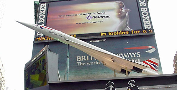 NewYork Times Square Concorde Model
