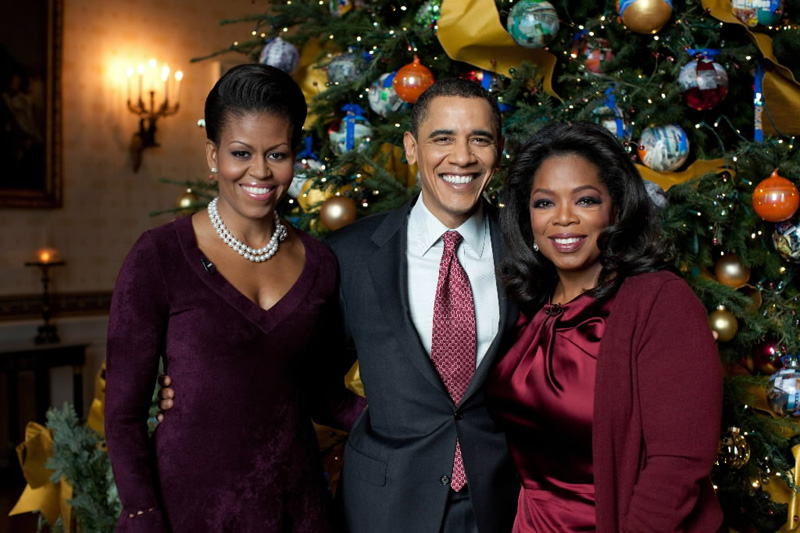 Oprah Winfrey and the Obamas