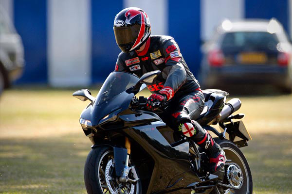 Prince William on Ducati 1198SP