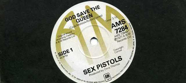 Rare Sex Pistols' God Save The Queen Vinyl Disc