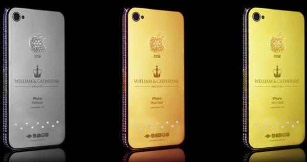 Goldgenie's Royal Wedding iPhone Collection